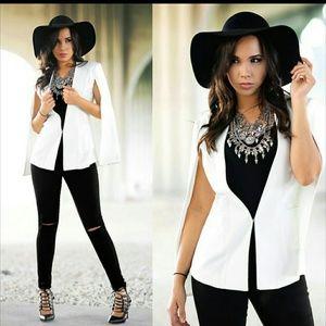 NWT Hot Miami Styles Cape Blazer Size M